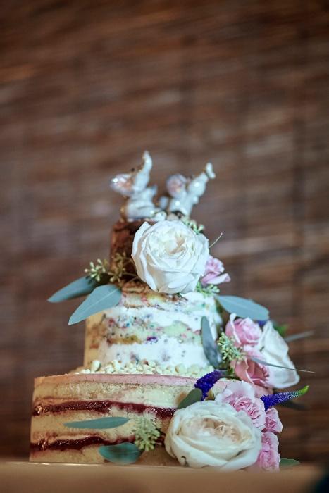 We love this Momofuku Milk Bar cake with fresh flowers!